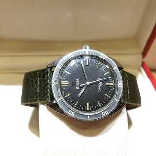 Vintage Omega Seamaster 120 Matte Black Diver Watch
