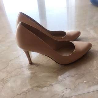 Charles and Keith Nude Pointed pumps