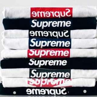 收 收 收 Want To Buy  Supreme Box logo Tee & Hoodie