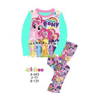 Long Sleeves My Little Pony Pyjamas (Big Size)