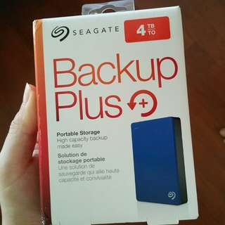Seagate backup plus 4TB blue external hard drive portable hdd disk