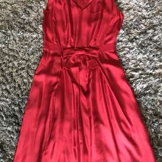 Silk red dress