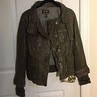 Danier Brown Leather Jacket