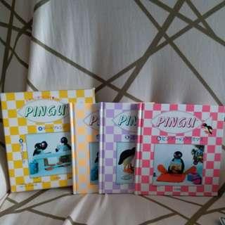 pingu(pinga) 日本絕版1995年1盒3本硬皮圖書