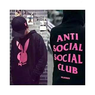 (😎秒殺10件$1500) Anti Social Social Club ASSC X Playboy Hoodie