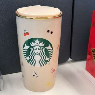 Brand new Starbucks ban.do double wall ceramic tumbler limited edition
