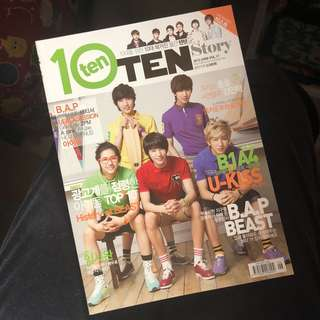 10 Ten story B1A4 cover magazine 韓國雜誌( U-kiss/B.A.P/Beast/Girls Day/A-pink/2pm)