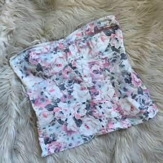 Floral Zara Tube Top