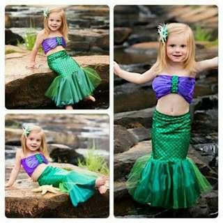 Mermaid Swimwear For Age 2 To 8 Yo