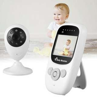 Wireless Baby Video Monitor - Two Way Audio, 300 Meter Range, Night Vision, Lullaby Function, 2.4 Inch Display, Temperature (CVAIA-I610)
