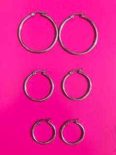 Hoop Earrings Stainless Steel