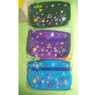 Embroidery Makeup pouches/ Wallets from Korea