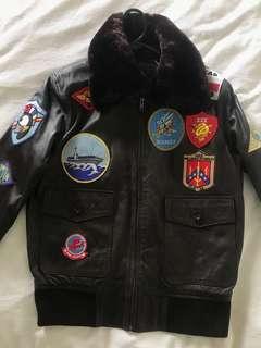 Rare Vintage Top Gun Leather Jacket