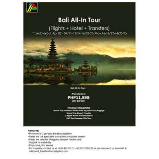Bali All-In Tour