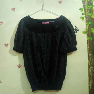 Blouse hitam uk. XL