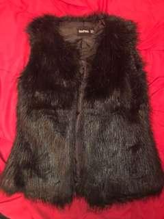 Boohoo fur vest