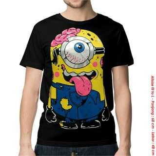 Kaos Minion Otak - Baju Distro Kartun