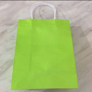 Paper bag - Lime green