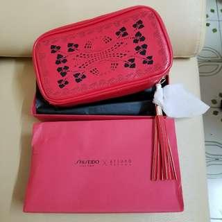 Shiseido紅色限量手提包