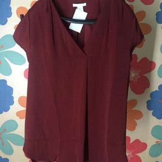 Blouse Maroon HnM