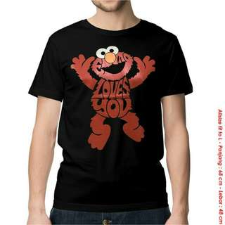 Kaos Elmo Love - Baju Distro Kartun Lucu