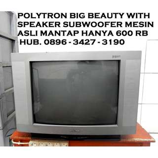 Tv 21 PoLyTRoN BiG Beauty With Spk Subwoofer Mesin Asli Katapang SOREANG