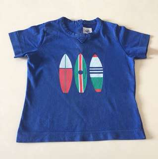 Petit bateau blue surf board top 18m