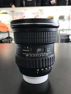 Tokina 11-16mm F2.8 Nikon mount