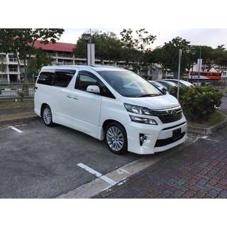 Toyota Vellfire 2.4A ZG (Twin Roof) @ $115,800