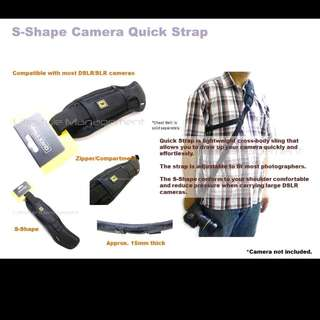 DSLR Camera S-Curve Ergonomics Quick Release Shoulder Sling Strap And Chest Belt (Canon Nikon Olympus Panasonic Sony)