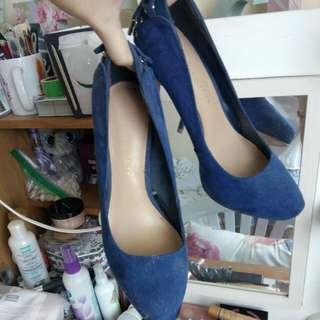 Charles & Keith Electric Blue Heels