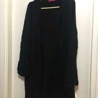Black wool cloth