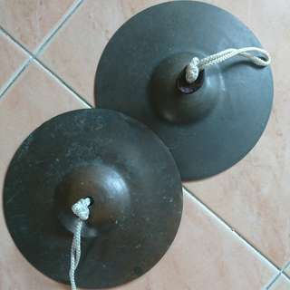 Old pair of brass cymbals