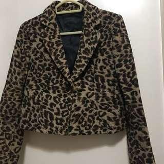 Animal printed jacket