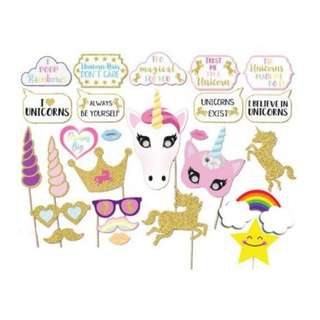 Unicorn Party Photo Props (Rental)
