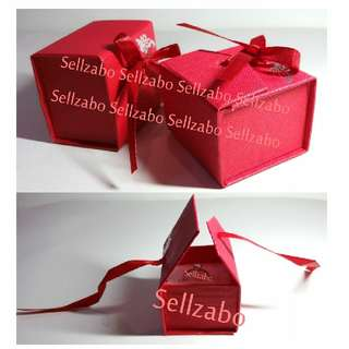 Ribbon Red Colour Rings Cardboard Box Holders Sellzabo White Base Accessories Birthday Gift Presents Ringbox