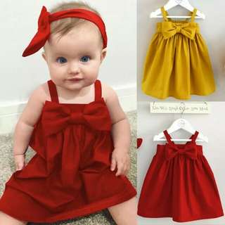 Summer Baby Girl Dress Red Color 12 months