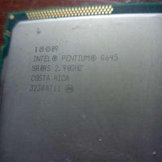 Cpu : Intel Pentium G645