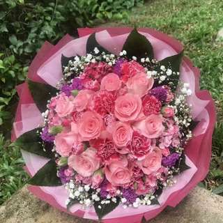 Rose n Carnation Bouquet