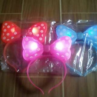 Glowing Minnie mouse head band