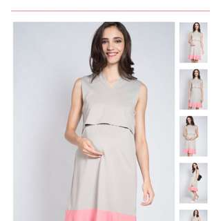 Grey lift up Nursing Dress (Size L)