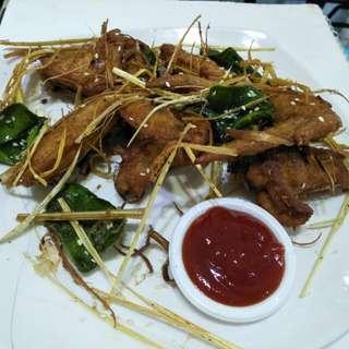 Fried lemon grass chicken wings