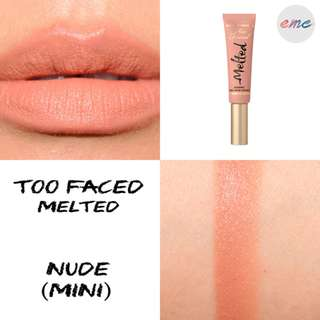 BN Too Faced Mini Melted Liquid Longwear Lipstick - Nude Toofaced