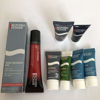 {NEW} BIOTHERM HOMME total recharge eye (bundle)