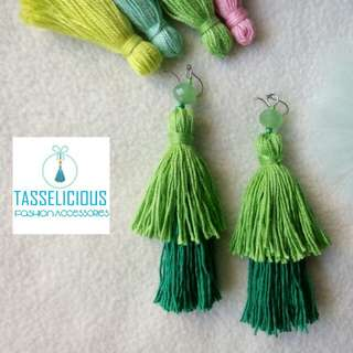 Tasselicious Handmade tassel earrings