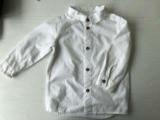 H&m long white shirt