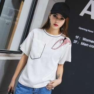 Lady white T-shirt