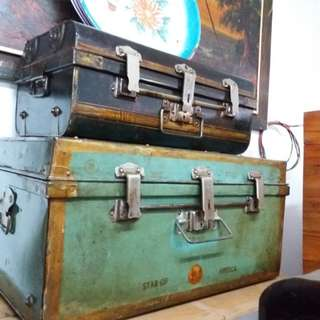 Antique stell trunk