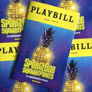 SPONGEBOB SQUAREPANTS the Broadway Musical Playbill