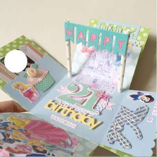 Disney princess 21st Birthday Explosion Box card